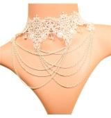 Elegante collar con colgante DIAMOND BLANCO