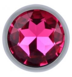 PLUG JOYA ANAL DE METAL DIAMOND ROSA