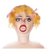 Muñeca hinchable 3D con vibración.