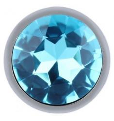 PLUG JOYA ANAL DE METAL DIAMOND AZUL TURQUESA