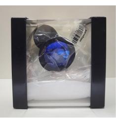 Plug anal silicona médica diamante azul