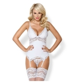 Delicado corset de encaje blanco