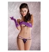 Sensual Tanga Purpura doble tira