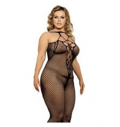 Bodystocking  red con abertura