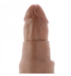 ARNES DILDO INCLUIDO CON PREPUCIO RETRACTIL DE 17,8 CM NATURAL