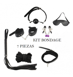 KIT BONDAGE PARA PAREJAS CON 7 PIEZAS