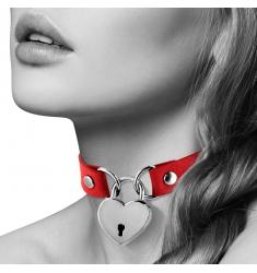 ELEGANTE collar con candado corazon