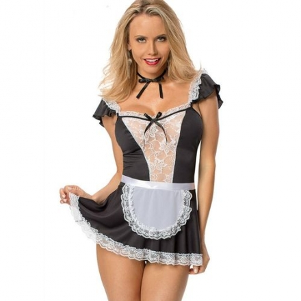 Mini Vestido Sirvienta Sexy