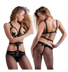 INDUSTRIAL NET HALTER BODYSTOCKING SIN COPAS