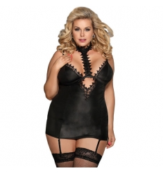 Chemise Fetish con Liguero Queen Plus