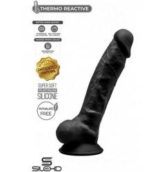 Dildo Dual Density Moldeable Negro 18CM