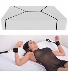 Kit Restricción/ataduras de cama con 4 esposas,tobillos y muñecas