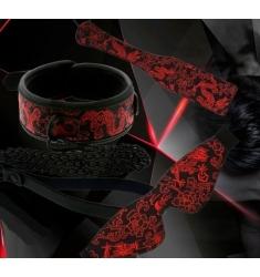 Collar con cadena Deluxe Rojo y Negro