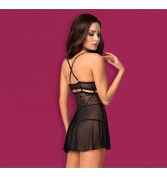 Babydoll negro, elegancia y glamour