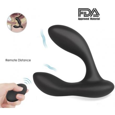 Masajeador Prostático Silicona Líquida y Control Remoto