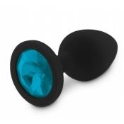 Joya Anal Silicona Médica Negro Azul