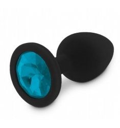 Joya Anal TALL S Silicona Médica Negro Azul