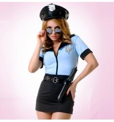 DISFRAZ OFICIAL DE POLICÍA 5 PIEZAS