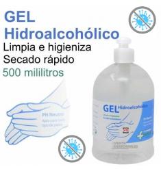 GEL HIDROALCOHÓLICO higieniza las manos y cualquier superficie 500ML