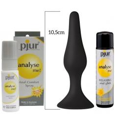 PACK ESPECIAL ANAL Relajante dilatador anal,LUBRICANTE ANAL 30ml y plug anal MINI INICIACION DE silicona médica.