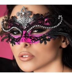 ELEGANTE Mascara DE METAL Bicolor con Circonitas