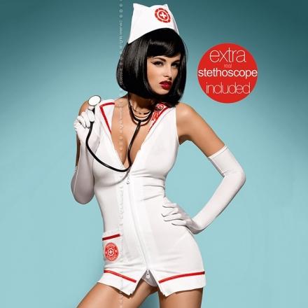 disfraz de enfermera con estetoscopio.