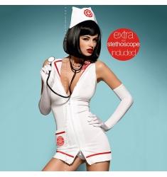 disfraz de enfermera talla xxl con estetoscopio