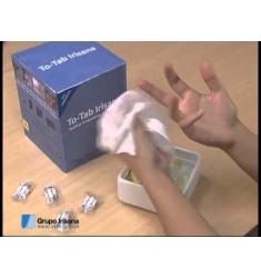 Toallitas limpiadoras en tableta para copas menstruales