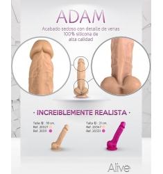 Realístico con ventosa 18cm rosa