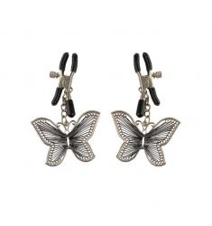 pinzas para los pezones con unas bonitas mariposas