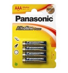 4 PILAS ALCALINAS PANASONIC AAA