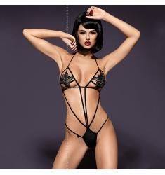 Luiza teddy, body con encaje negro